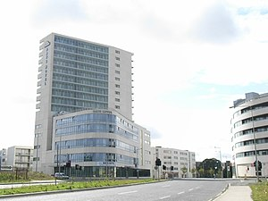 Ballymun - A view of the newly-renewed Ballymun village centre, 2007