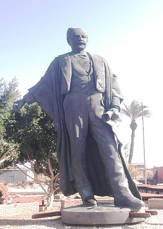 Ferdinand de Lesseps - De Lesseps statue now stands in Port Fouad shipyard. When it stood at the entrance of the Suez Canal, the outstretched hand indicated that the way was now open to the East.