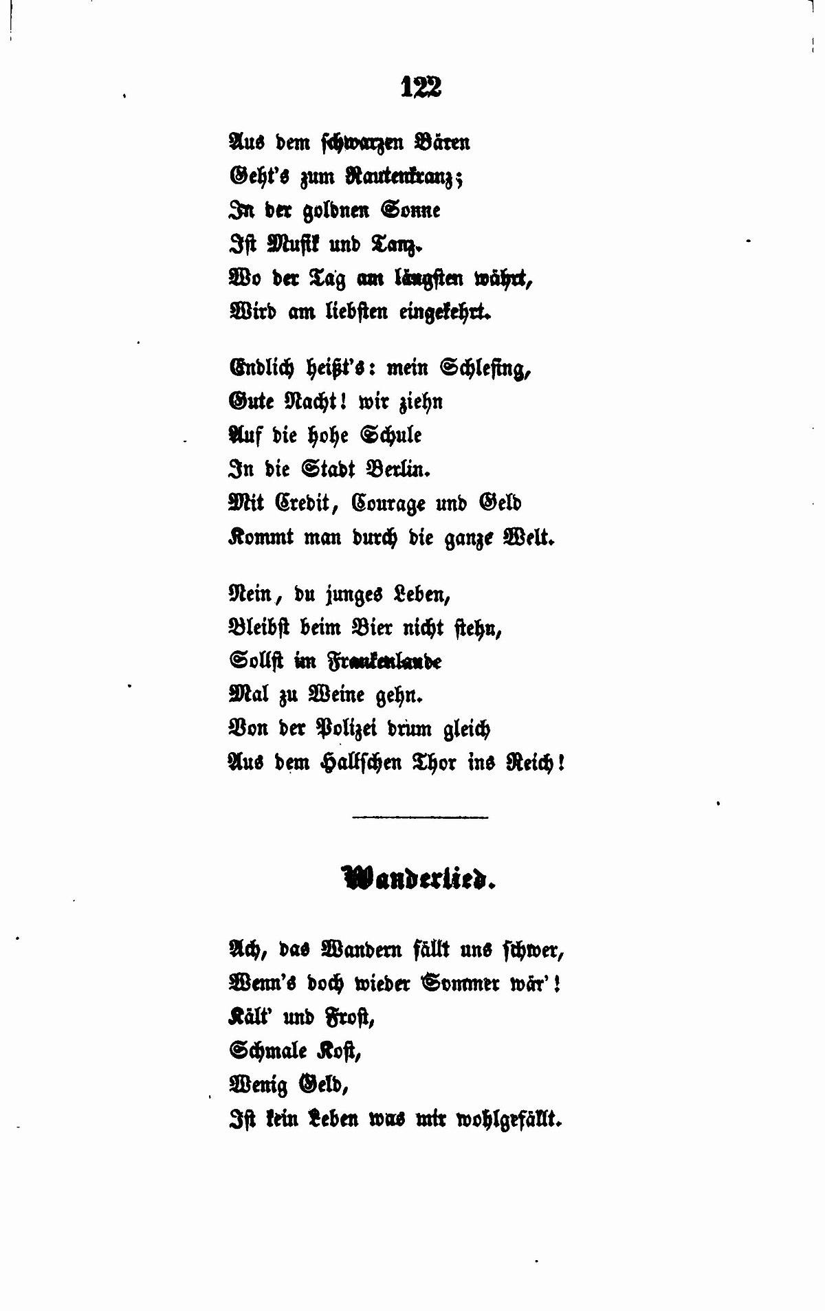 Filede Fallersleben Gedichte 122jpg Wikimedia Commons