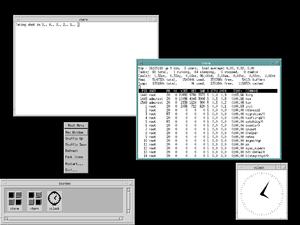 Motif (software) - Image: Debian Motif MWM Default