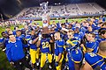 Delaware receives the first state cup after defeating Delaware State during a Week 3 NCAA football game Saturday Sept. 17, 2011.jpg