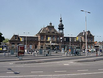 Delft railway station - Delft station building in use from 1885 to 2015 which was not destructed aftermath