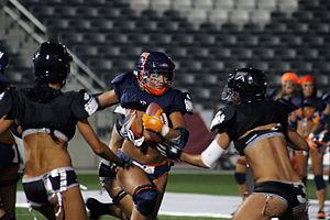 Denver Dream (football) - Denver Dream player in action against the L.A. Temptation