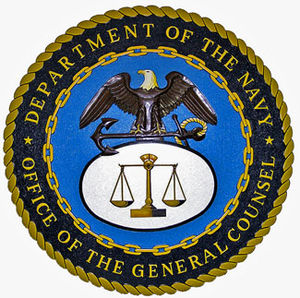 General Counsel of the Navy - Image: Department of the Navy Office of the General Counsel Seal Plaque L