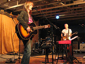 Derek Webb - Webb and then-wife Sandra McCracken performing in Asheville, NC in November 2007