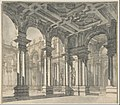 Design for a Stage Set with a Monumental Arcaded Courtyard. MET DP801284.jpg