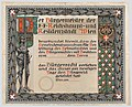 Design for a certificate of citizenship, awarded by the city of Vienna MET DP864091.jpg
