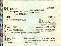 Schonertagticket single nrw bahncard