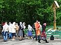 Devotees by Memorial to Murdered Priests - Babi Yar - Kiev - Ukraine (26963346591).jpg