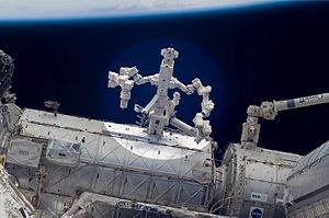 Dextre - Dextre,  many of the ISS's Robotic arms and experiments, can be operated from Earth, performing tasks while the crew sleeps.