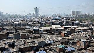 Dharavi Slum in Maharashtra, India