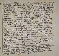 Die letzte Tagebuchseite Gardiners