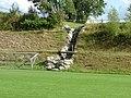 Die Günzquelle wurde mit Grüntensteinen eingefasst.Leider nahm die sehr großzügige Gestaltung des Sportplatzes wenig Rücksicht auf den Urzustand der Quelle. - panoramio.jpg