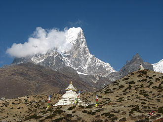 Dingboche - Stupa with Taboche in the background