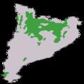 Distribució del pi roig a Catalunya.png