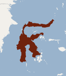 Distribution of Bunomys chrysocomus.png