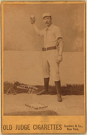 Cleveland Blues (NL) all-time roster - Doc Bushong was the Blues' starting catcher in 1883 and 1884.