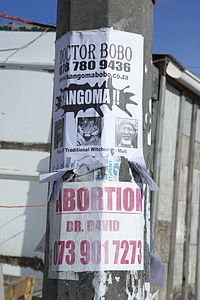 Doctor Bobo Witch Doctor and Abortion Flyer In Joe Slovo Park, Cape Town, South Africa.jpg