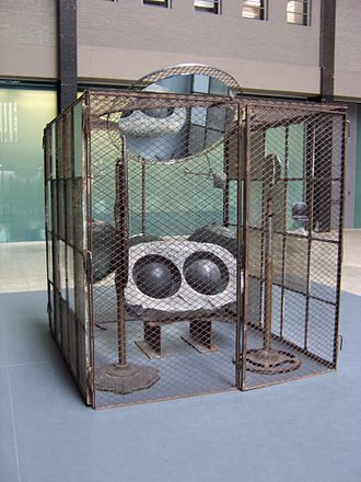 Louise Bourgeois - Sculpture by Bourgeois in the Domestic Incidents group exhibit at London's Tate Modern Turbine Hall, 2006