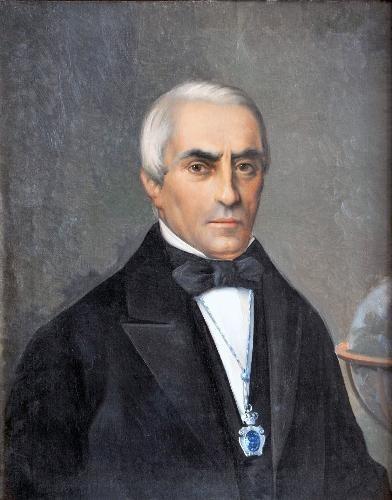 Retrato na Real Sociedade de Amigos do País de Santiago.