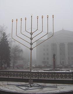 Public display during Hanukkah