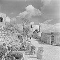 Dorpsgezicht met een moskee, een minaret en enkele huizen en muren langs een weg, Bestanddeelnr 255-1192.jpg
