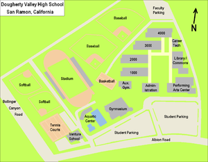 Hudson Valley Campus Map.Dougherty Valley High School Wikipedia