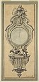 Drawing, Design for a Cartel Clock Case, 1715–25 (CH 18170555).jpg