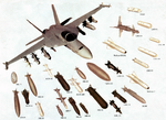 Drawing of FA-18E Super Hornet with armaments 1997.png