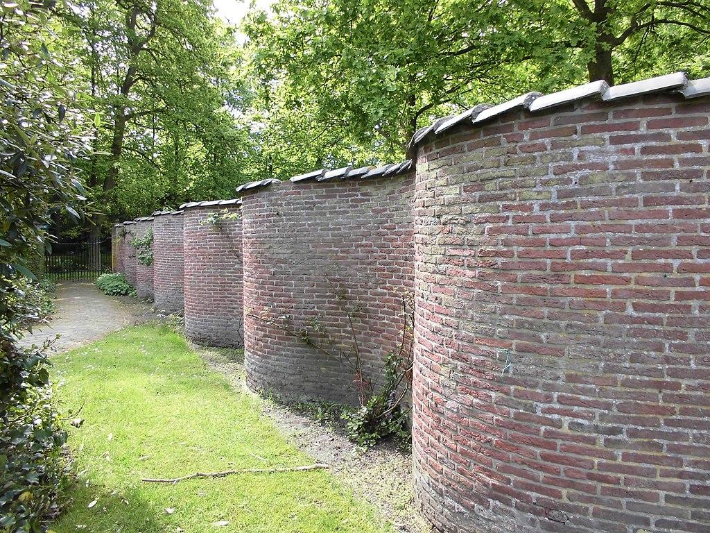 fruitmuur slingermuur Buitenplaats Sparrendaal in Driebergen-Rijsenburg