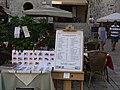 Dubrownik - widok menu jednej z wielu kafejek - panoramio.jpg