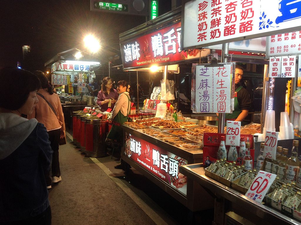 Duck tongue stand in Liuhe Tourist Night Market, Kaohsiung, Republic of China
