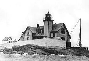 Dumpling Rocks Light - US Coast Guard photo of the 1889 structure