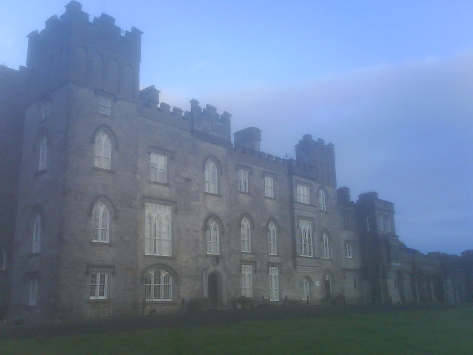 Dunsany Castle in Meath mist