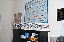 a collection of model airliners in 1 200 scale