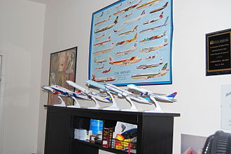 Model aircraft - A collection of model airliners in 1:200 scale.