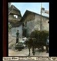 ETH-BIB-Ollon, Dorfpartie mit Brunnen und Strohfuder-Dia 247-12973.tif