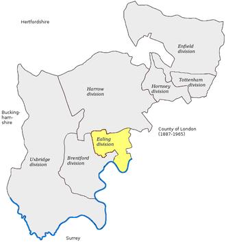 Ealing (UK Parliament constituency) - Image: Ealing 1885