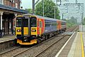 East Midlands Trains Class 153, 153357, Alsager railway station (geograph 4524911).jpg