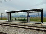 East at a South Jordan Parkway station passenger shelter, Apr 16.jpg