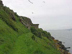 Inchcolm - The East End of Inchcolm has some WWII fortifications