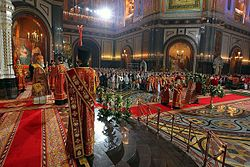 Easter service in the Cathedral of Christ the Saviour in Moscow, Russia, 2013-05-05 (04).jpeg