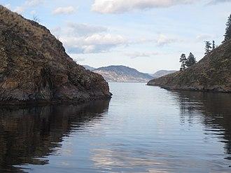 Rattlesnake Island (Okanagan Lake) - Image: Eastern Entrance to Ogopogo Gap