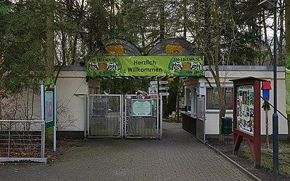 So kommt man zu Zoo Eberswalde mit den Öffentlichen - Mehr zum Ort Hier
