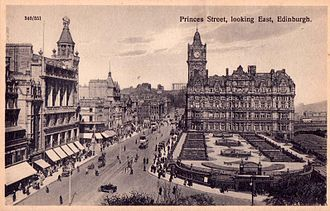 Princes Street - Princes Street, looking East, c. 1910–1915.