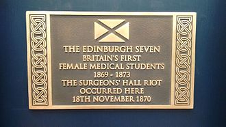 Surgeons' Hall riot - Historic Scotland plaque, unveiled in 2015 to commemorate the riot.