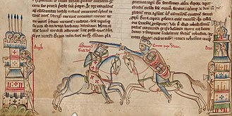 Anglo-Saxon London - Medieval impression depicting Edmund Ironside (left) and Cnut (right).