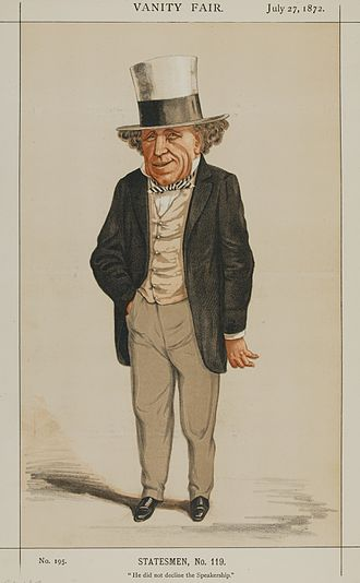 """Edward Pleydell-Bouverie - """"He did not decline the Speakership"""" Pleydell-Bouverie as caricatured in Vanity Fair, July 1872"""