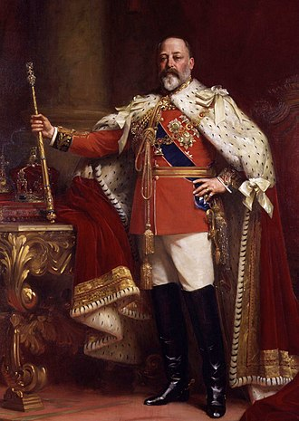 History of monarchy in Australia - Image: Edward VII in coronation robes