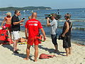 Ekipa Polsatu na sopockiej plaży.JPG